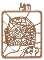 "Laser-Schnitt-Plan DinA4  ""Aachens Strassen"""