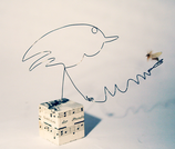 """""""Vogel+Fliege"""" - Eindraht-Figur"""
