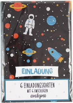 Einladungskartenset SPACE