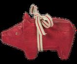 Holzschwein rot KLEIN