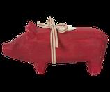 Holzschwein rot GROSS