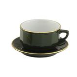 Satz Cappuccino-Tasse 28 cl samt Untertasse