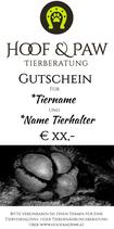 Hoof & Paw Gutschein