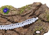 Bracelet au crochet Aerin  simple rang bleu clair coton Oeko-Tex