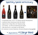 Sparkling Spezial Online Verkostung inkl. Rezeptempfehlung für ein 4 Gänge Menü