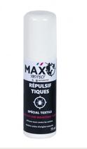 Répulsif pour tiques Max Protect - Spécial textile - 75 ml