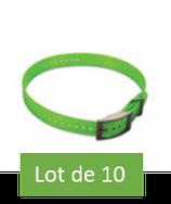 Lot de 10 sangles Vert Fluo Garmin pour collier T5  TT15 DC50