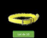Lot de 10 Sangles Jaune  Fluo Garmin pour collier DC 50, T5 et TT15
