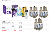 Aloe-Vera Reinigungs- und Entgiftungs-Kit  C 9 mit 18 Liter Kristall-Quellwasser für 9 Tage