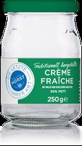 Horster Creme Fraiche 250g inkl. Glas-Pfand ( in jedem Lebensmittelmarkt im Kühlregal )