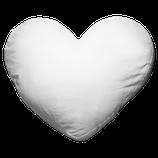 Polster (Kissen) weiß Herzform
