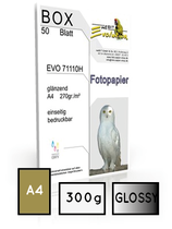 EVO 72710, gletscher, DIN A4, 300 gr. | 40 Blatt  |  ultra white