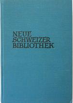 Lang Robert Jakob, Neue Schweizer Bibliothek - 1937 - Band 21