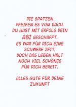 """Einlegeblatt für Abitur """" Die Spatzen pfeifen """""""