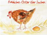 Fröhliches Oster Eier suchen