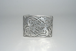 Kilt belt buckle dragon polished