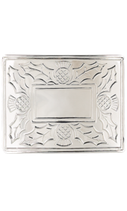 Kilt belt buckle thistle polished