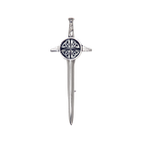 Kilt pin celtic shield polished
