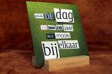 Kaarthouder (bamboe) - Inclusief kaart naar keuze