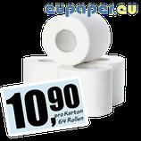 Toilettenpapier Zellstoff-Recyclingmix, 2-lagig