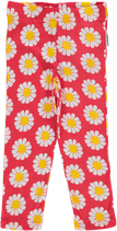 Maxomorra Leggings Daisy coral 3/4 lang