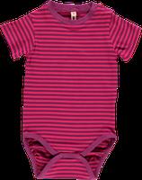 Sale! 50 % Maxomorra Kurzarmbody cerise/purple stripes