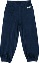 Maxomorra Pants basic velour dunkel blau