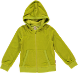 Maxomorra Kapuzenjacke Velour bright green neu