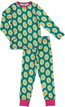 Maxomorra Pyjama Daisy grün