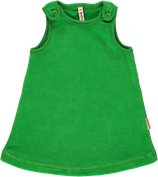 Maxomorra Pinafore Dress dark green velour