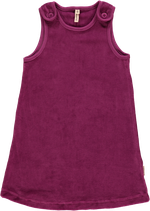 Maxomorra Pinafore Dress purple velour