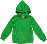 Maxomorra Kapuzenjacke Velour dark green neu