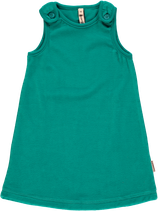 Maxomorra Pinafore Dress turquoise velour Gr. 92