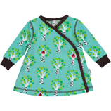 Maxomorra Dress Wrap Tree blue Gr. 62