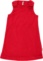 Maxomorra Pinafore Dress red velour