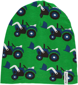 Maxomorra Hat Tractor grün velour Gr. 40/42