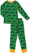 Maxomorra Pyjama Tractor grün