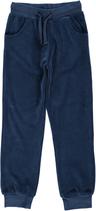 Maxomorra Pants regular velour dunkel blau Gr. 92