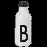 Sale! 50 % Design Letters: Drinking bottle Weiß/schwarz