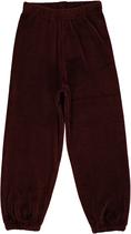 Maxomorra Pants basic velour dunkel braun