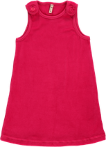 Maxomorra Pinafore Dress cerise velour Gr. 98/104