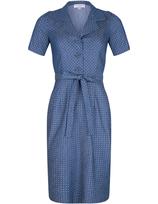 SALE -40% Very Cherry Revers Dress Denim Dots Light Blue