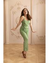 SALE -40% Very Cherry Ella Jumpsuit Green Flowers
