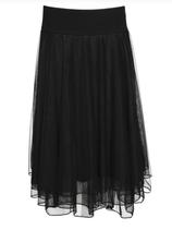 Lalamour Mesh Skirt Black