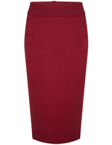 Very Cherry Pencil Skirt Wine
