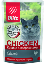 Blitz Classic Chicken & Inners in Gravy Adult Cat All Breeds