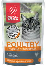 Blitz Classic Chicken & Turkey in Jelly Adult Cat All Breeds