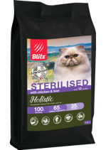 Blitz Holistic КУРИЦА И ПЕЧЕНЬ — для кастрированных или стерилизованных кошек и котов 1,5 кг