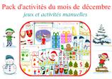 Pack  d'activités du mois de décembre