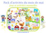 Pack  d'activités du mois de Mai